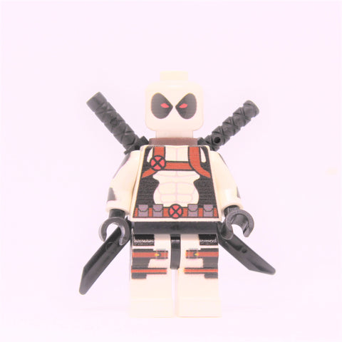 White Deadpool-Minifigure-Free shipping