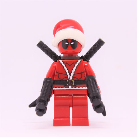 Deadpool-Santa outfit Minifigure-Free shipping