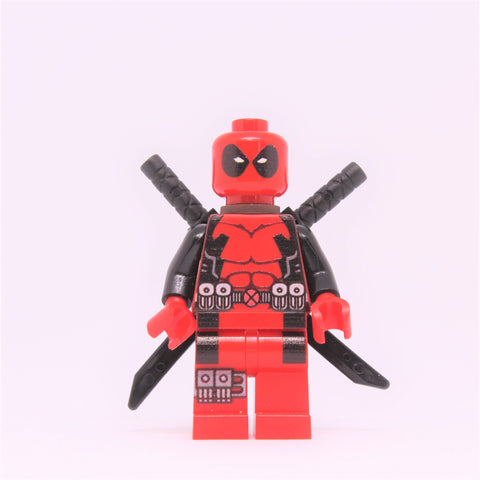 Red Deadpool Minifigure-Free Shipping
