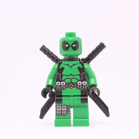 Green Deadpool Minifigure-Free shipping