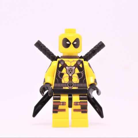 Yellow Deadpool Minifigure-Free Shipping