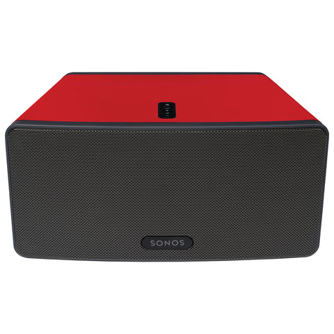 Front Sample View ColourPlay Skin SONOS PLAY:3 Racing Red Gloss (Each)