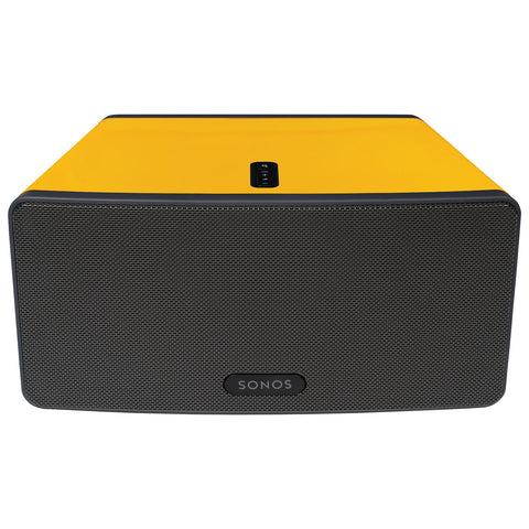 Front Sample View ColourPlay Skin SONOS PLAY:3 Sunflower Yellow Gloss (Each)