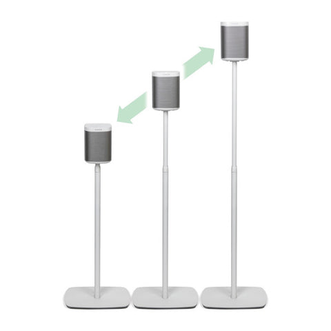 Adjustment Sample View Flexson Adjustable Floorstand for SONOS PLAY:1 (Single, White)