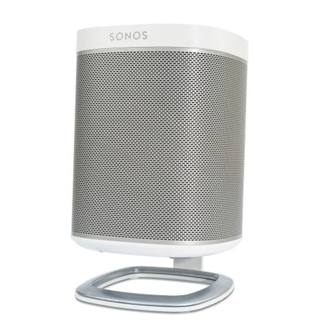 Front Angle Sample View Flexson Desk Stand for the SONOS PLAY:1 (Each, White)