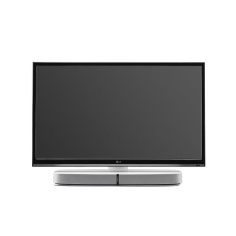 Sample Front View Flexson Adjustable TV Stand for SONOS PLAYBASE (White)