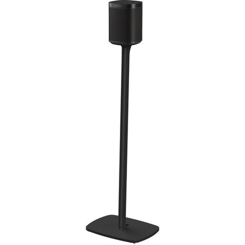 Sample Front View Flexson Floor Stand for Sonos One (Single, Black)