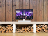 Indoor Sample View Flexson Adjustable TV Stand For Sonos Beam (White)