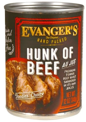 Evangers Hand Packed Hunk of Beef Canned Dog Food