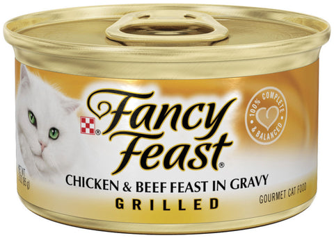 Fancy Feast Grilled Chicken and Beef Canned Cat Food