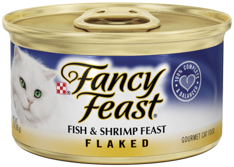 Fancy Feast Flaked Fish and Shrimp Canned Cat Food