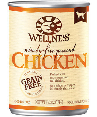 Wellness Natural Grain Free 95% Chicken Recipe Adult Wet Canned Dog Food