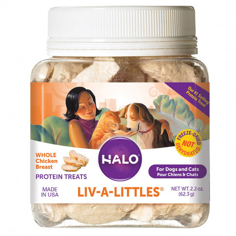 Halo Liv-a-Littles Freeze Dried Whole Chicken Dog & Cat Treats