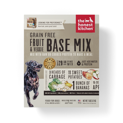 The Honest Kitchen Grain Free Fruit & Veggie Recipe Dog Food Base Mix