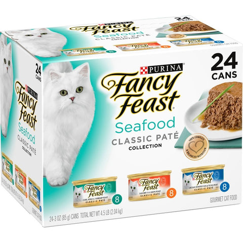 Fancy Feast Classic Seafood Feast Variety Pack Canned Cat Food