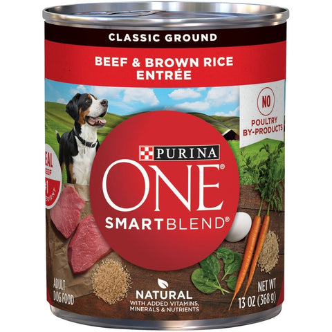 Purina One Wholesome Beef & Brown Rice Entree Canned Dog Food