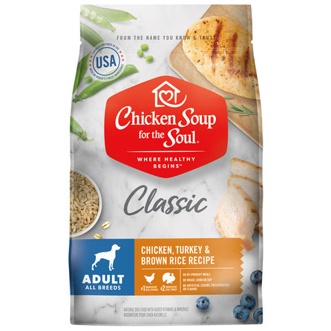Chicken Soup For The Soul Chicken, Turkey & Brown Rice  Adult Recipe Dry Dog Food