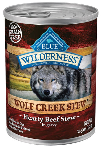 Blue Buffalo Wilderness Wolf Creek Stew Hearty Beef Stew Canned Dog Food