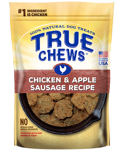 True Chews Premium Recipes Chicken & Apple Sausage Recipe Dog Treats