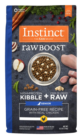 Instinct Raw Boost Senior Grain Free Real Chicken Recipe Natural Dog Food