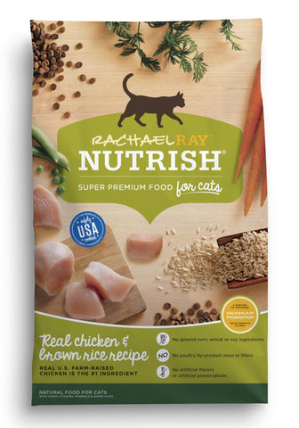 Rachael Ray Nutrish Natural Chicken & Brown Rice Recipe Dry Cat Food