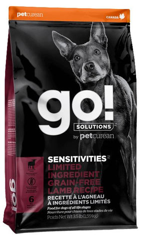 Petcurean GO! Solutions Sensitivities Limited Ingredient Lamb Recipe Dry Dog Food