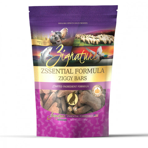 Zignature Zssential Ziggy Bars Dog Treats