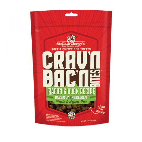 Stella & Chewy's Crav'n Bac'n Bites Bacon & Duck Recipe Dog Treats