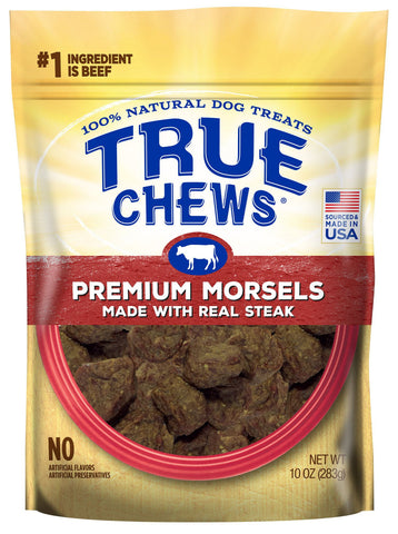 True Chews Premium Morsels Steak Recipe Dog Treats