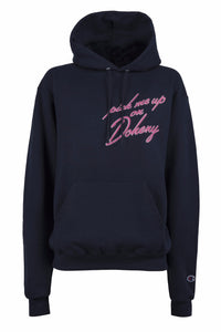 Pick Me Up On Doheny Navy Champion Hoodie