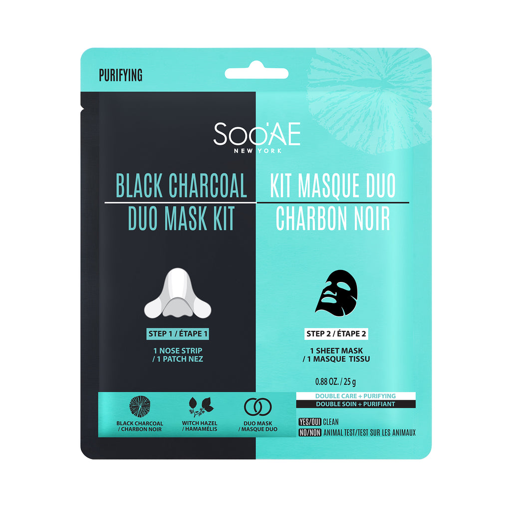 Black Charcoal Duo Mask Kit