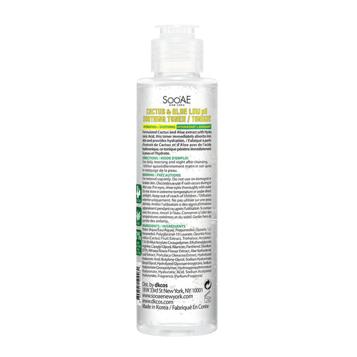 CACTUS & ALOE LOW pH SOOTHING TONER