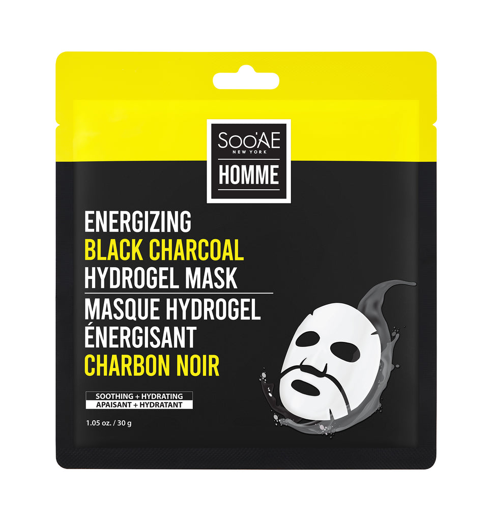 ENERGIZING BLACK CHARCOAL HYDROGEL MASK