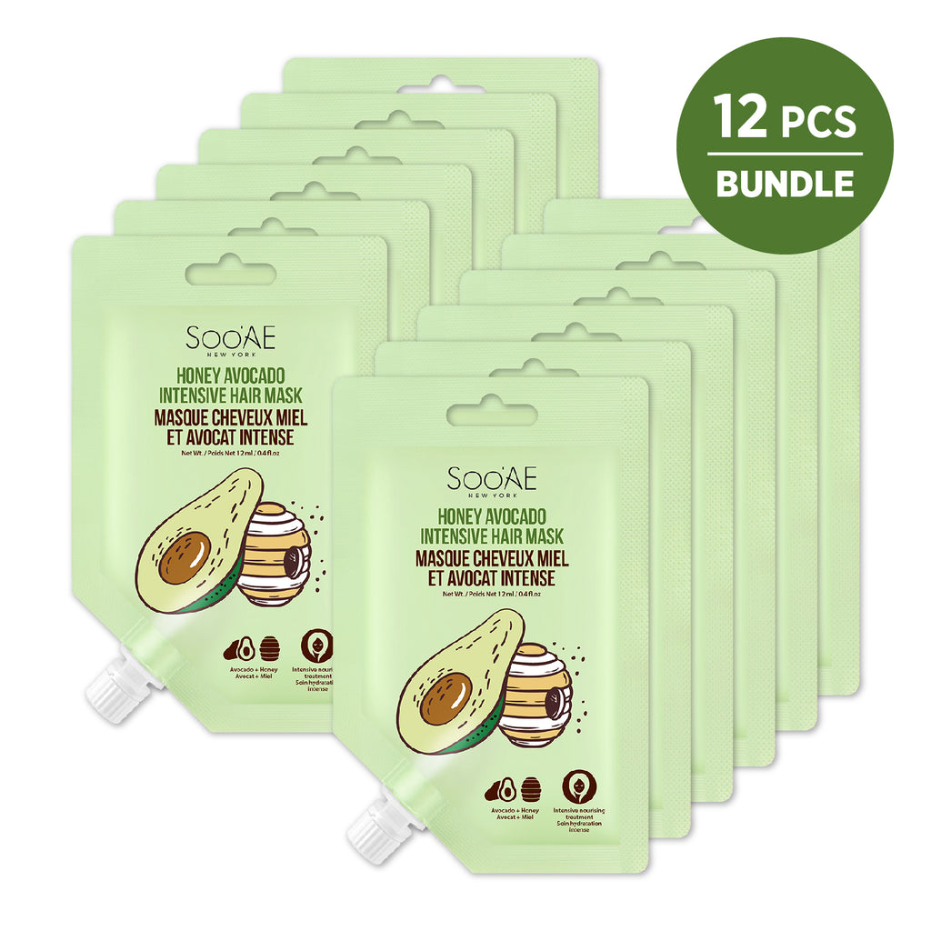 [12pcs Bundle]  HONEY AVOCADO INTENSIVE HAIR MASK
