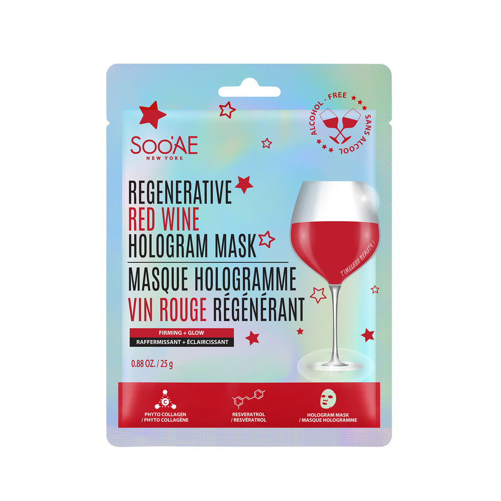 Regenerative Red Wine Hologram Mask
