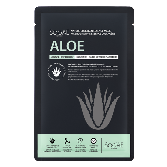 NATURE COLLAGEN ESSENCE MASK - ALOE - Soo'Ae Canada