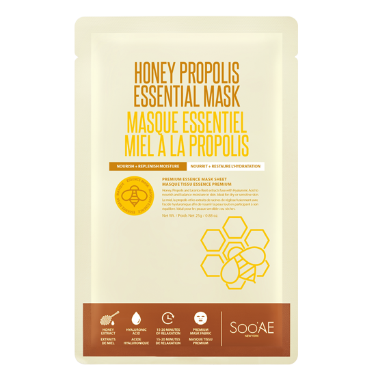 HONEY PROPOLIS ESSENTIAL MASK - Soo'Ae Canada