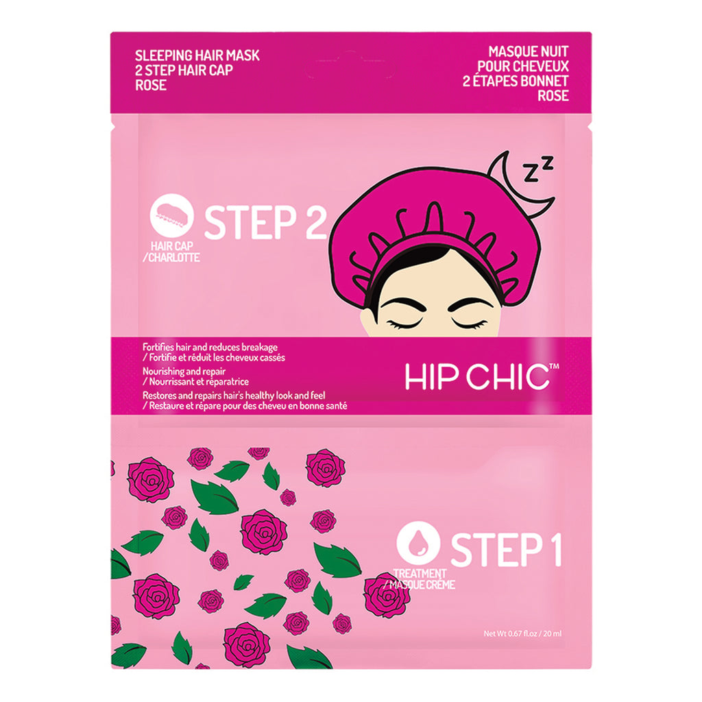 [5 Pcs Bundle] SLEEPING HAIR MASK 2 STEP HAIR CAP  ROSE