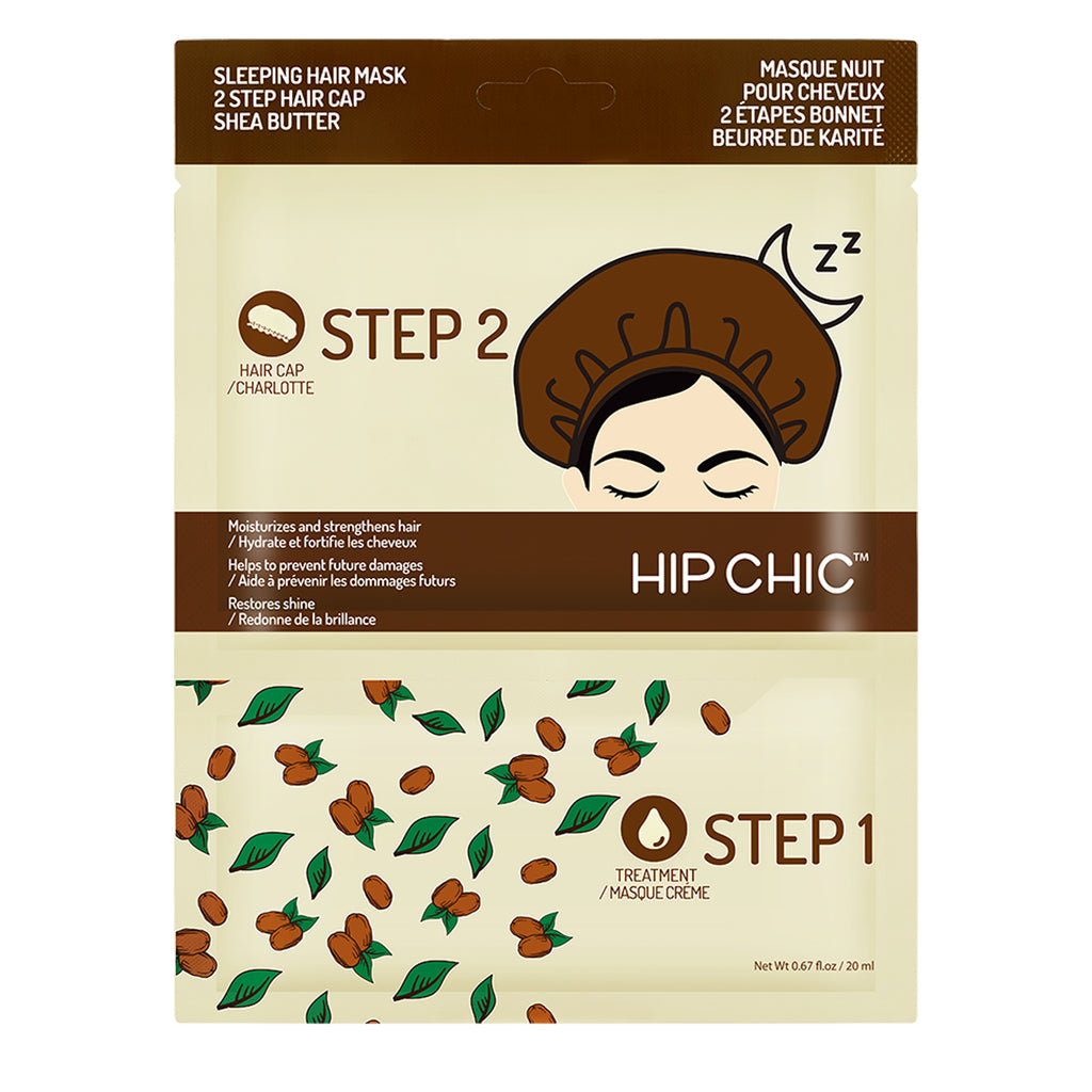 [5 Pcs Bundle] SLEEPING HAIR MASK 2 STEP HAIR CAP SHEA BUTTER