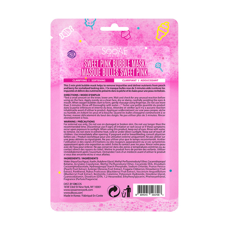 SWEET PINK BUBBLE MASK