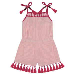 Inez girls romper rose pink
