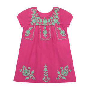 Noor girls embroidery dress hibiscus