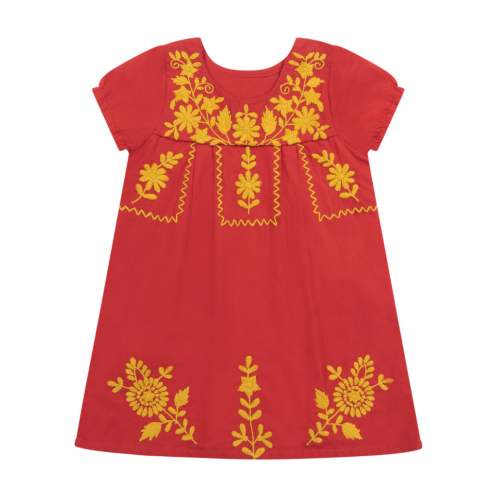 Camille Women's Embroidery Tunic Dress Scarlett