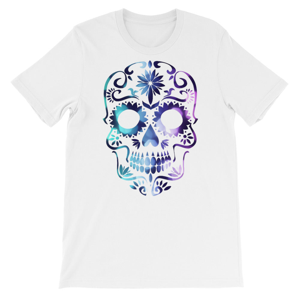 Candy Skull Blue/Lavender tee