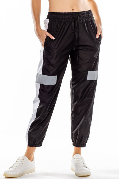 Reflective sport joggers