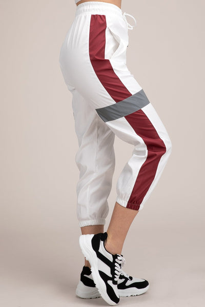 White Sporty Reflective Pants