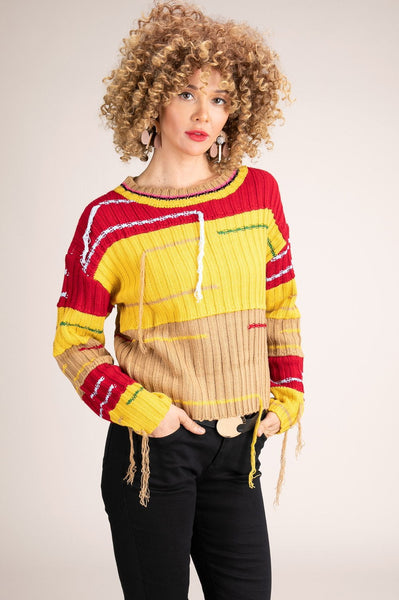 Yellow Tea & Books Sweater