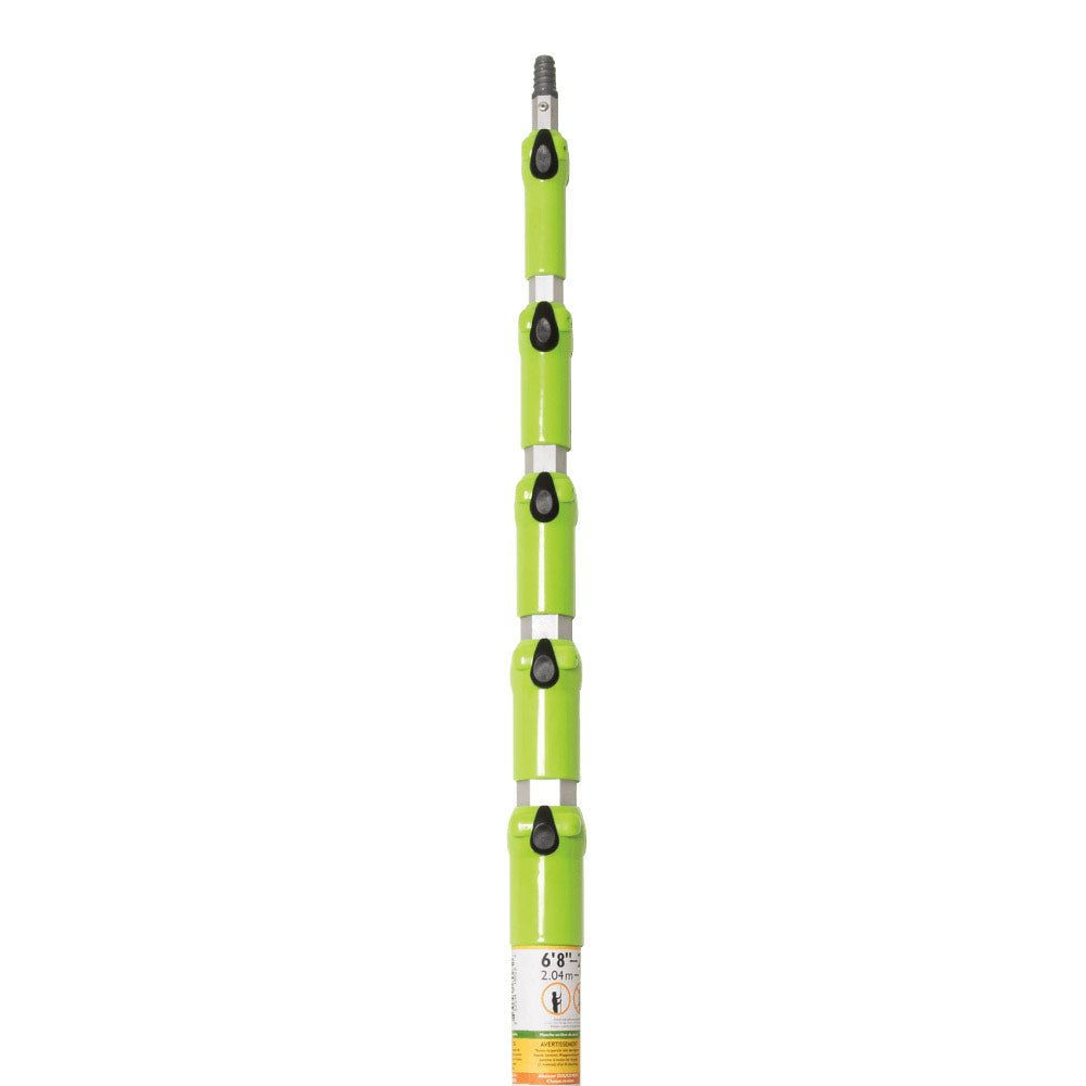 Monster MagPoles are push-button telescopic extension poles with fiberglass handles. The Monster MagPole can reach the metal on a ceiling at a height of 27'/8.23m (plus body height) while standing on the floor. Hang signs, banners and decor without the use of a ladder using Clik-Clik's Magnetic Hanging System.