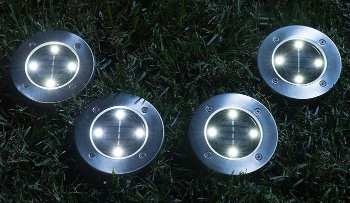Set of 4 Disk Lights