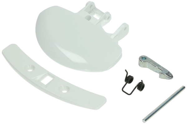 Door Handle (Complete set - white -) for washing machine 50262233005